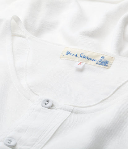 103 henley short sleeve<br/>white
