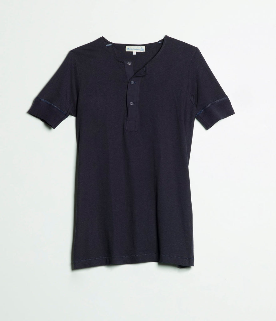 103 henley short sleeve<br/>dark navy