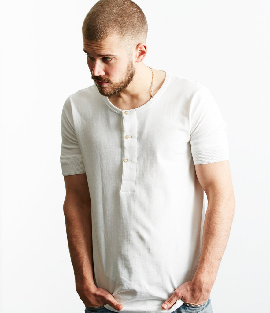 207 henley short sleeve<br/>white