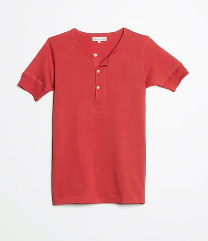 207 henley short sleeve<br/>red