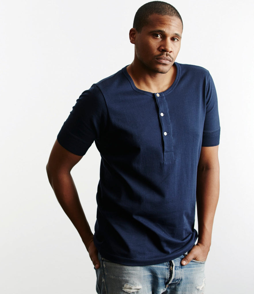 207 henley short sleeve<br/>ink blue