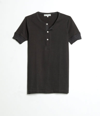 207 henley short sleeve<br/>charcoal