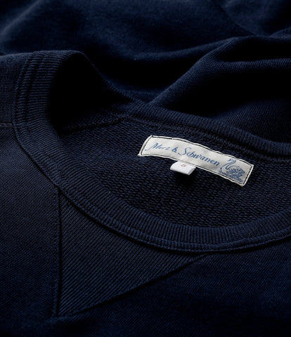 347 crew-neck sweatshirt sh. slv.<br/>dark navy