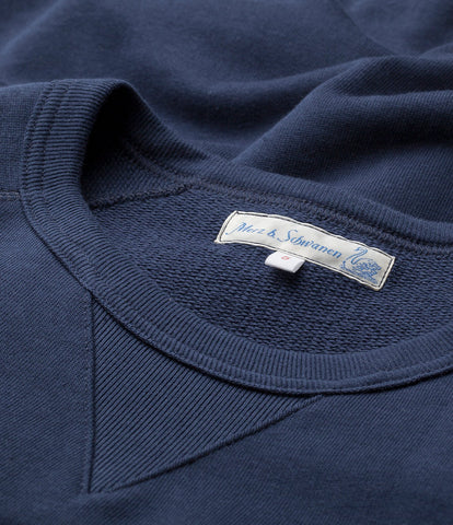 347 crew-neck sweatshirt sh. slv.<br/>ink blue