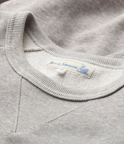 347 crew-neck sweatshirt sh. slv.<br/>grey mel.