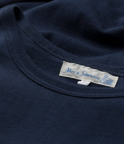 1950's crew neck tee<br/>ink blue