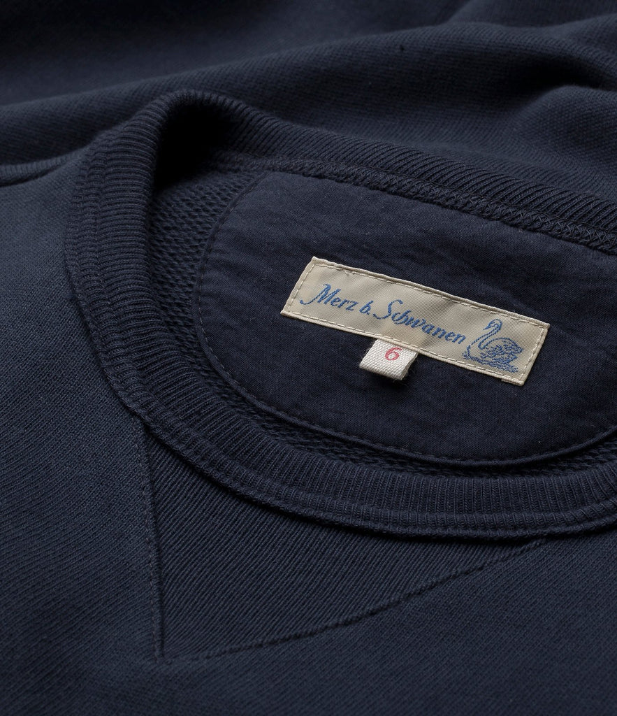3S48 crew-neck sweatshirt heavy<br/>dark navy