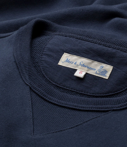 3S48 crew-neck sweatshirt heavy<br/>ink blue