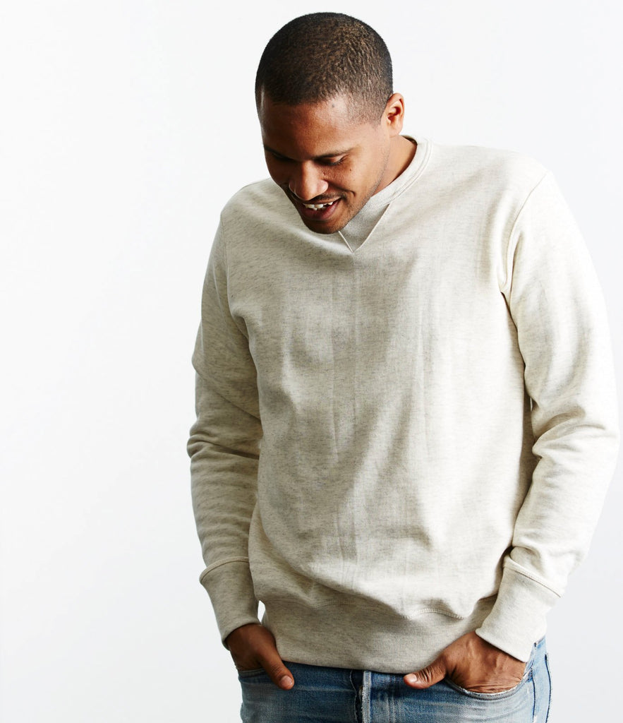 346 crew-neck sweatshirt<br/>nature mel.