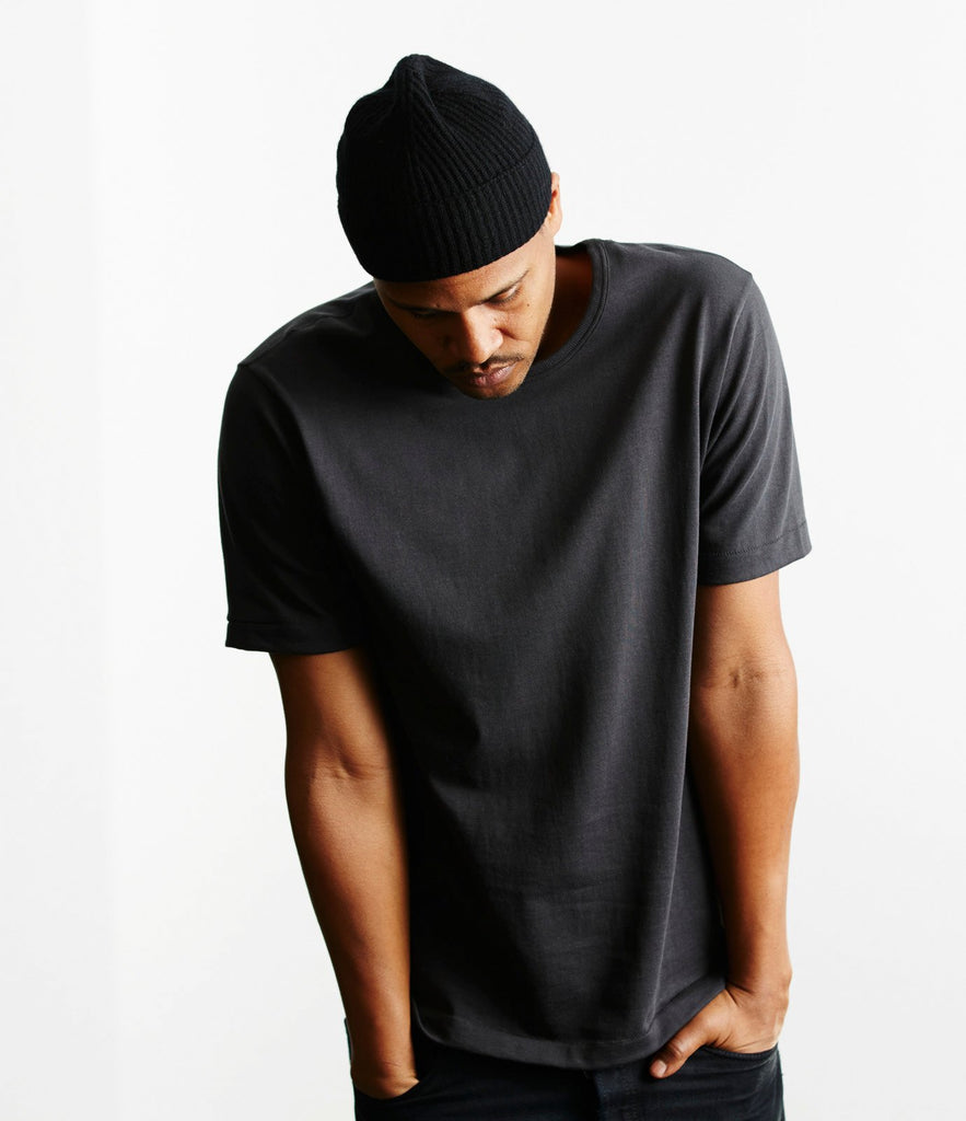 215 classic crew neck T-shirt<br/>charcoal