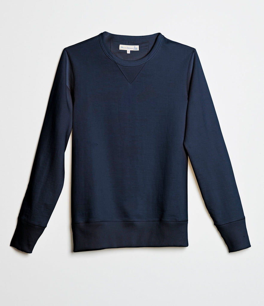 2S48 crew-neck sweatshirt heavy<br/>ink blue