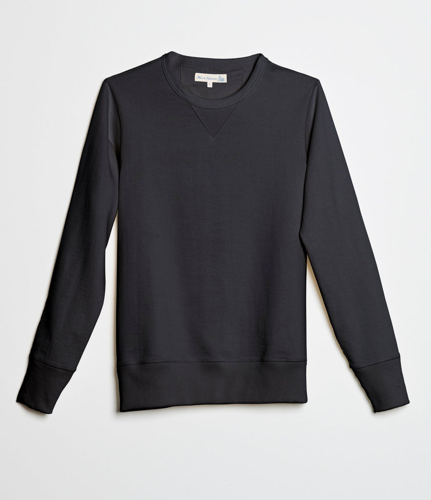 2S48 crew-neck sweatshirt heavy<br/>charcoal