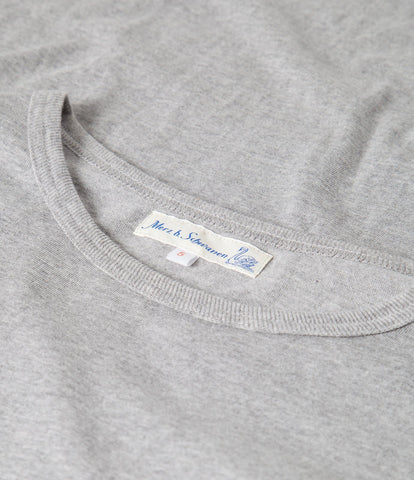 Men's <br/>1950's crew neck T-Shirt <br/>grey mel.