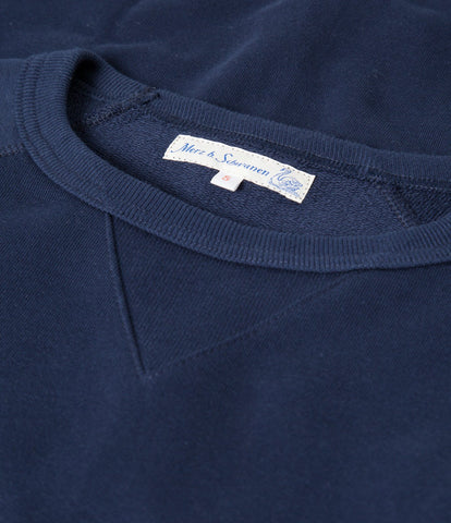 342 crew-neck raglan sweatshirt long slv.<br/>ink blue