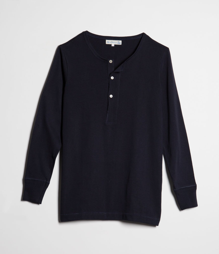 206 henley long sleeve<br/>dark navy