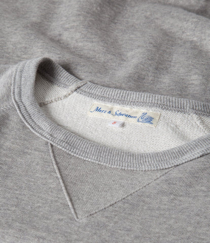 342 crew-neck raglan sweatshirt long slv.<br/>grey mel.