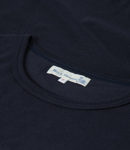 1950's crew neck tee<br/>dark navy