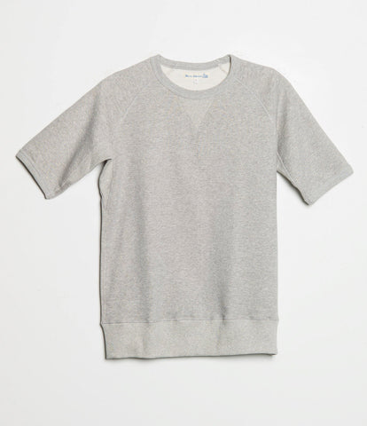Men's <br/>347 crew-neck sweatshirt sh. slv. <br/>grey mel.