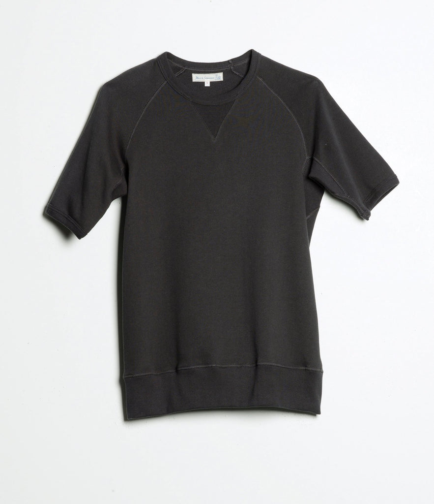 Men's <br/>347 crew-neck sweatshirt sh. slv. <br/>charcoal