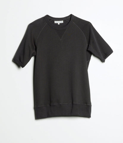347 crew-neck sweatshirt sh. slv.<br/>charcoal