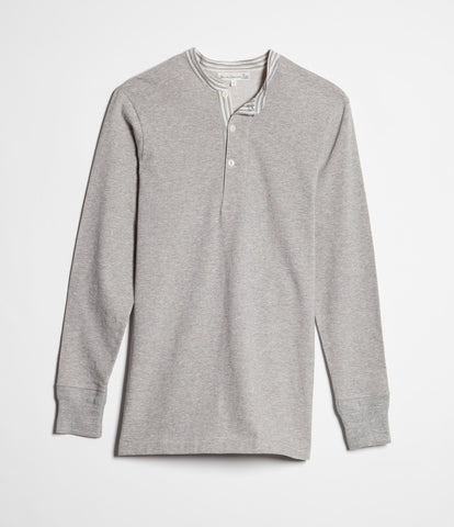 224 henley long sleeve<br/>grey mel.-stripes