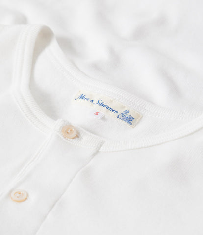 506 Strickflausch henley long sleeve<br/>white