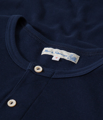 506 Strickflausch henley long sleeve<br/>ink blue