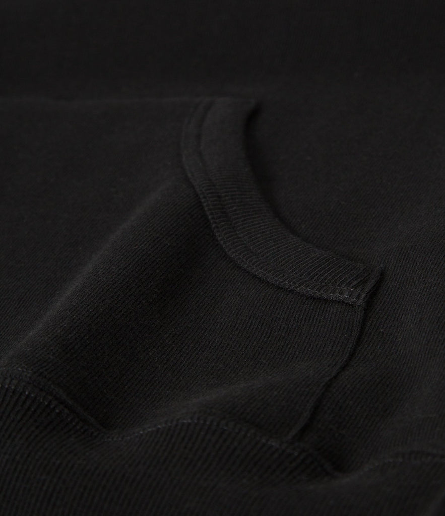 3S82 hooded sweater<br/>deep black