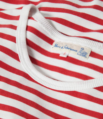 2M15 classic crew neck T-shirt<br/>red-white