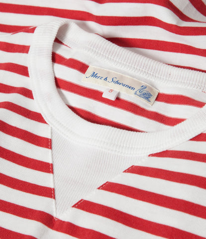 2M78 crew neck sweatshirt light<br/>red-white