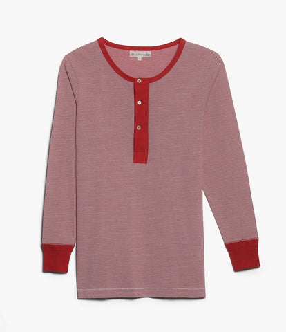 226 henley long sleeve<br/>red-white