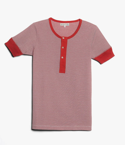 227 henley short sleeve<br/>red-white