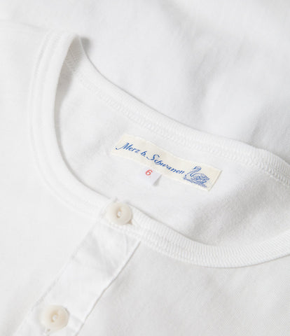 1930s henley long sleeve<br/>white