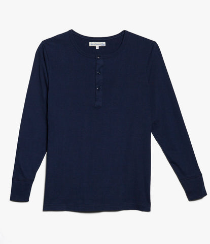 1930s henley long sleeve<br/>ink blue