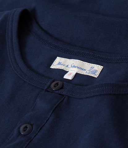 Men's <br/>1930s henley long sleeve <br/>ink blue