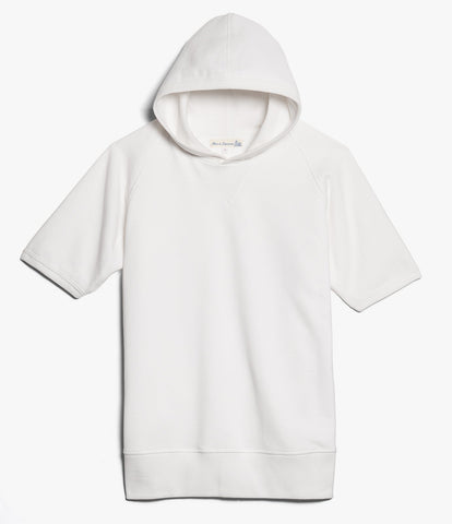 383 hooded sweater raglan 1/4 slv.<br/>white