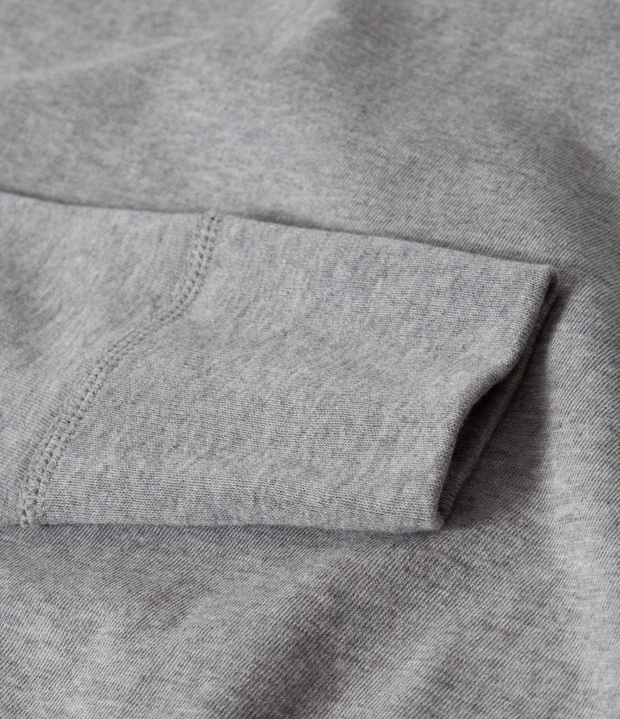 1930s henley long sleeve<br/>grey mel.
