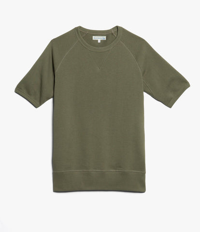 347 crew-neck sweatshirt sh. slv.<br/>army