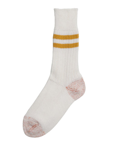 Unisex <br/>B75 bamboo socks striped <br/>white-sun