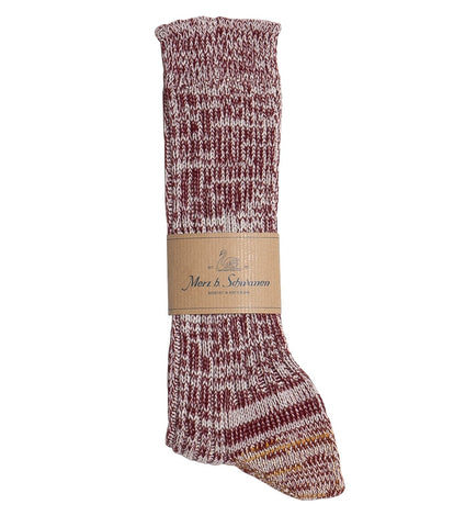 271 cotton socks<br/>dark red nature