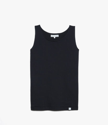 Women's <br/>1.20sBFT boyfriend tank <br/>deep black