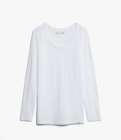 Women's <br/>1.CCLS classic crew-neck long sleeve <br/>white