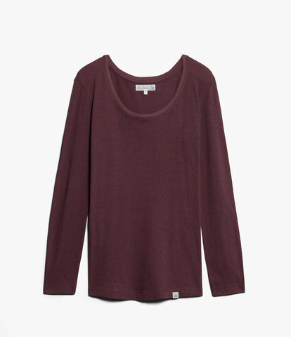 Women's <br/>1.CCLS classic crew-neck long sleeve <br/>red oak