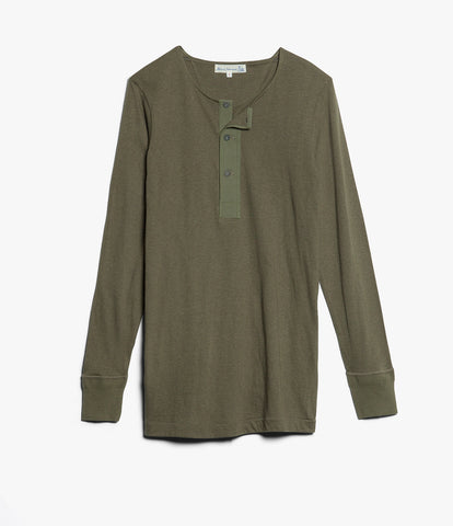 Men's <br/>102 button border shirt long sleeve <br/>army