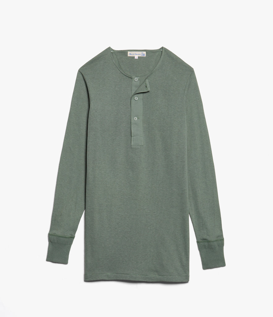 Men's <br/>102 button border shirt long sleeve <br/>light army