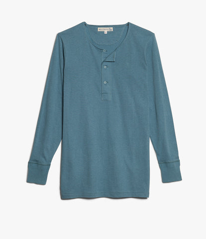 102 button border shirt long sleeve<br/>ocean