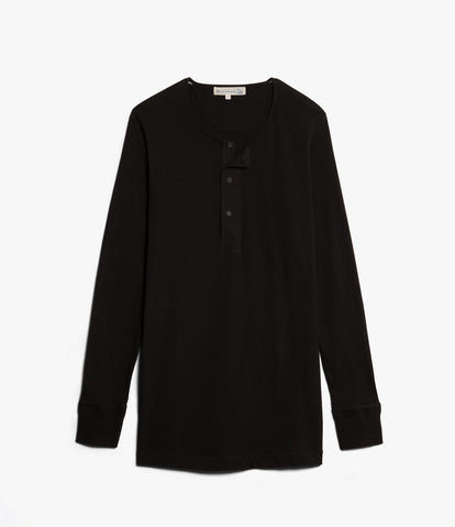 Men's <br/>102 button border shirt long sleeve <br/>deep black
