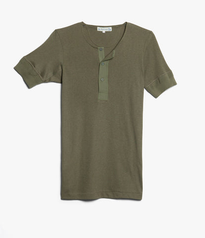 Men's <br/>103 henley short sleeve <br/>army