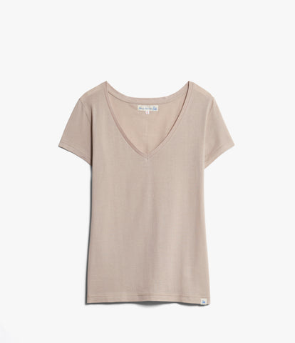 Women's<br/>18.EFV easy fit V-neck t-shirt<br/>sand