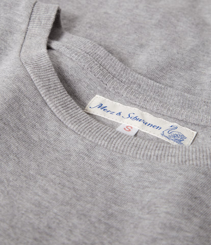 Women's<br/>19.50sw fitted crew<br/>grey mel.